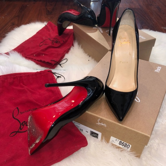 39f1f32a027 Christian Louboutin So Kate patent leather pumps